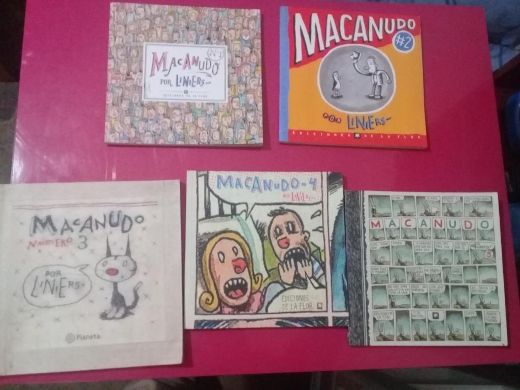 Coleccion macanudo de Liniers del 1 al 5