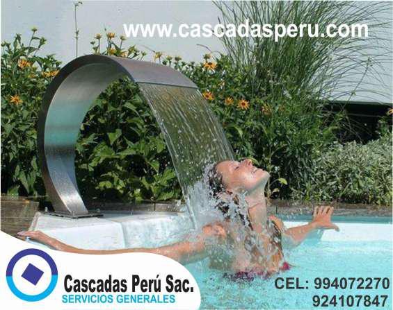 Rebose de acero, para fuentes, piscinas, cascadas, muro