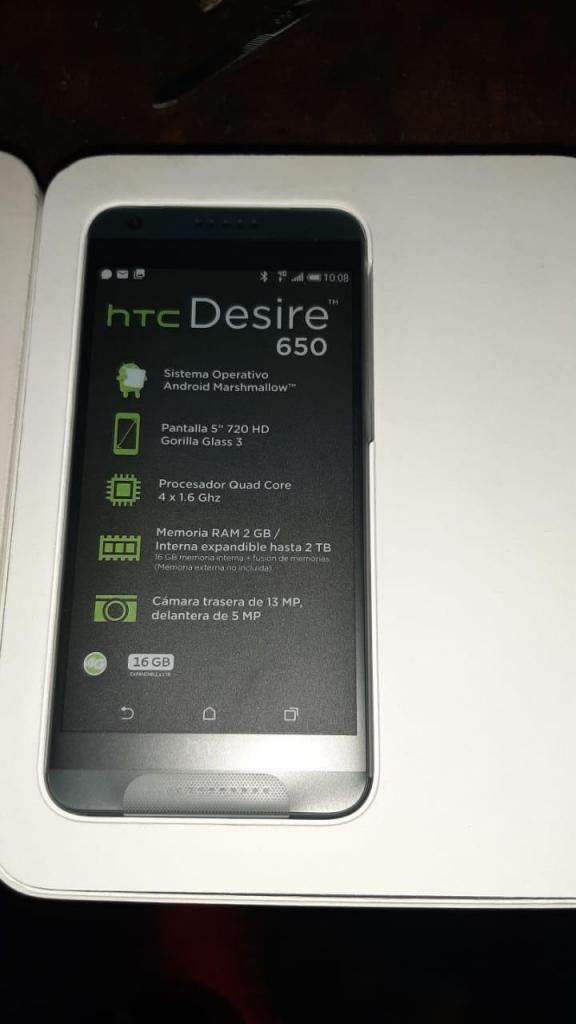 HTC DESIRE 650 EQUIPO NUEVO EN CAJA ACCESORIOS