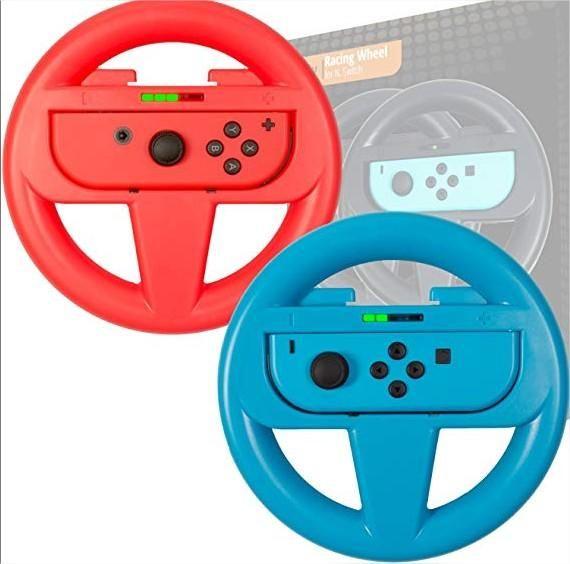 Mando Holder Tipo Volante Timon Para Nintendo Switch Set 2