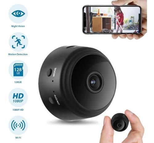 Mini Cámara Wifi Visión Nocturna Espía Hd 1080p 128 Gb