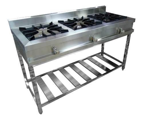 Cocina Industrial 3 Hornillas Inoxchef