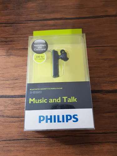 Handsfree Bluetooth Philips Shb1600 Sellado En Caja !!
