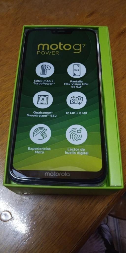 Celular Motog7 Power nuevo en caja zona norte