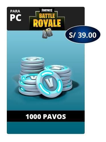 Fortnite 1000 Pavos - Pc - Global