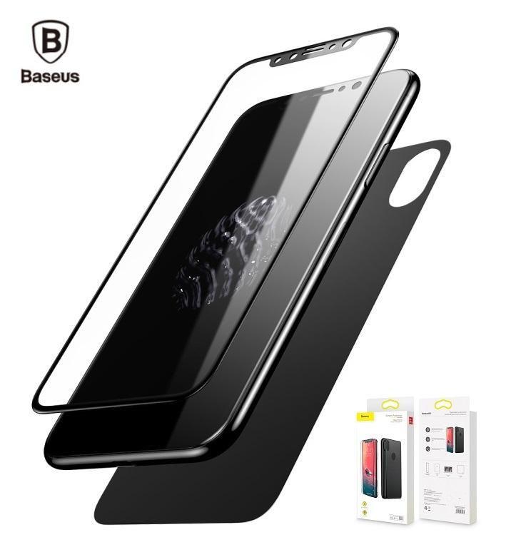 Vidrio Templado Baseus Doble para Iphone Xs / Xs Max Front y