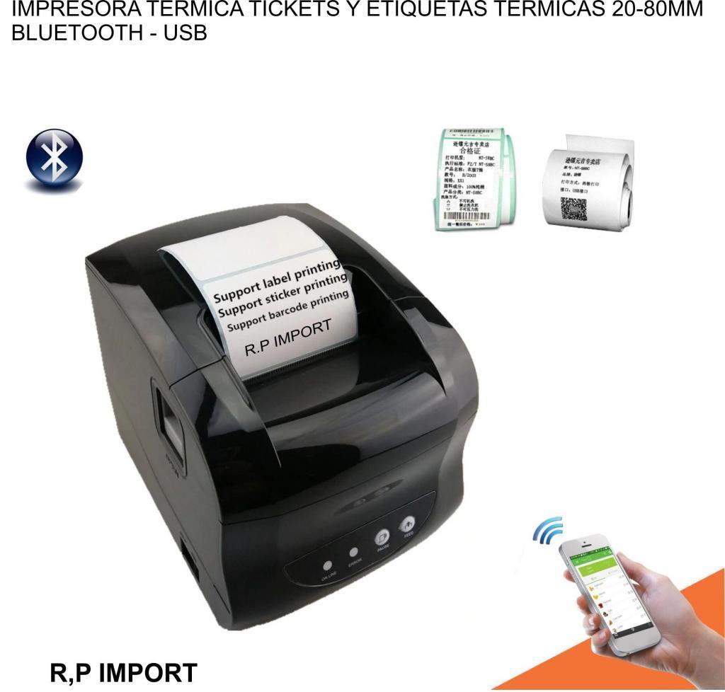 Impresora Térmica Etiquetas adhesivas TICKETS. usb