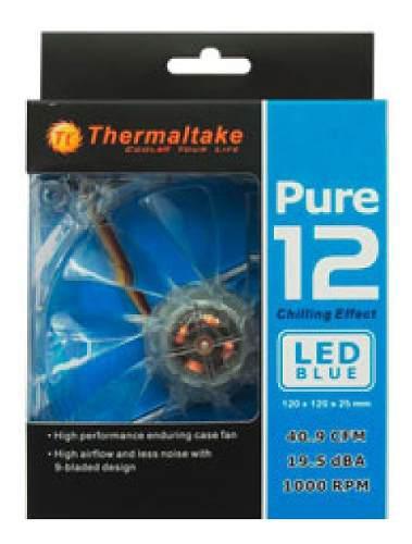 Fan Cooler Thermaltake Pure 12 Led Blue 12 Cm. Thermaltake