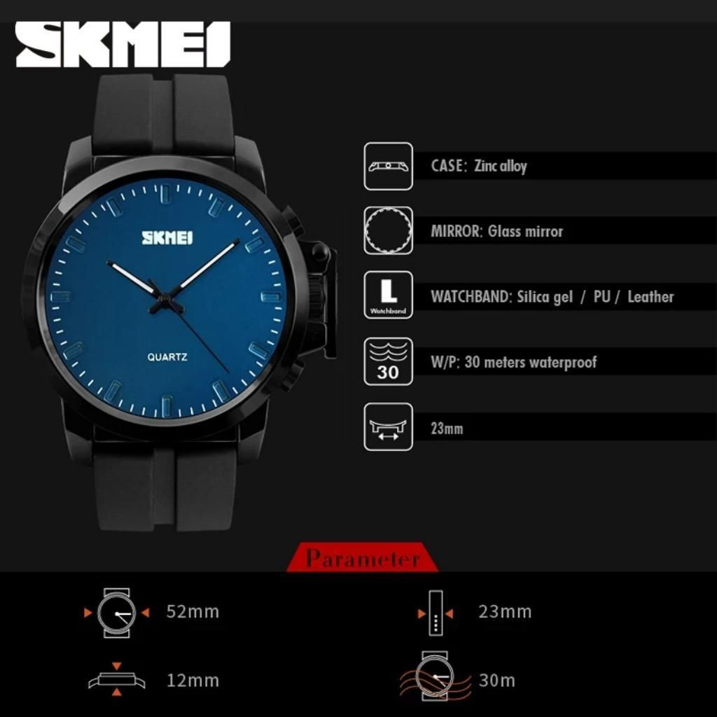 Reloj Skmei  Azul Caballero Acuatico