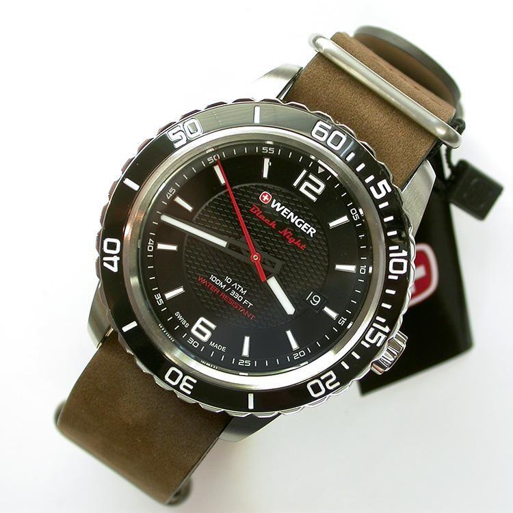 Reloj Wenger Black Night - Correa De Cuero