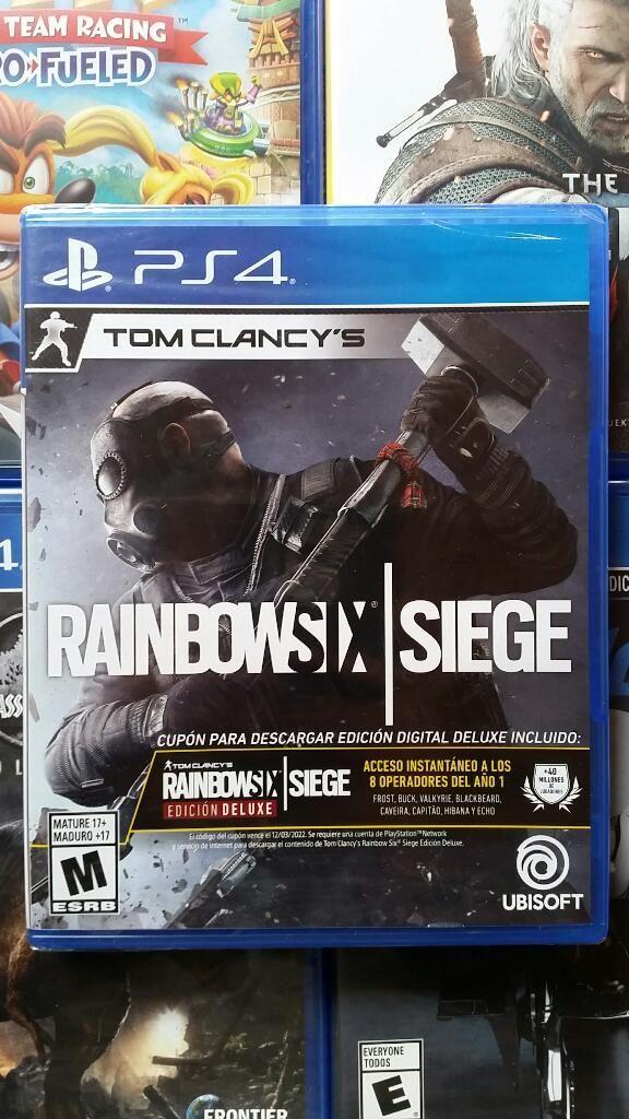 Rainbow Six Siege Ps4 Nuevo Sellado Stock