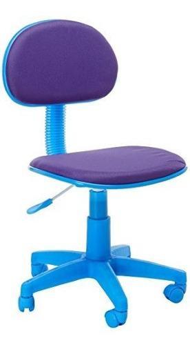 Muebles Flash Silla Ergonomica De Oficina En Tela Azul Purpu