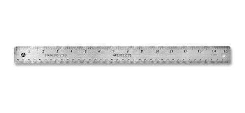 Westcott 10416 15 Regla De Oficina De Acero Inoxidable Con B