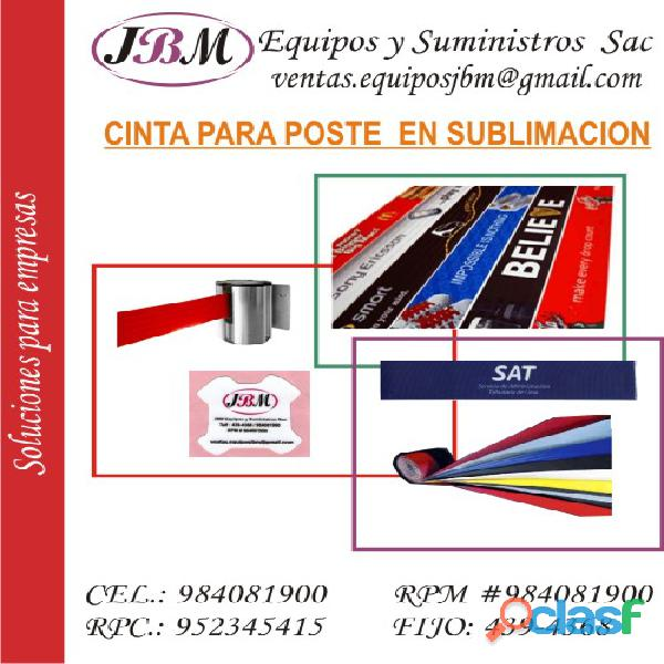 *Cinta* para organizador de cola y fila, Perú
