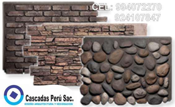 Fachaletas y fibra de vidrio en paneles en Lima