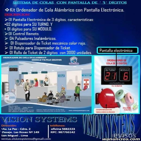 SOFTWARE DE COLAS PARA CLINICAS, HOSPITALES