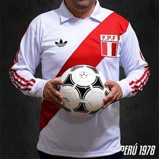 Camiseta Polo Peru Retro Manga Larga Talla S M L Xl