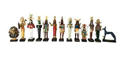 Antiguo Egipto Dios Egipcio 13 Figurillas Set Resina Estatua