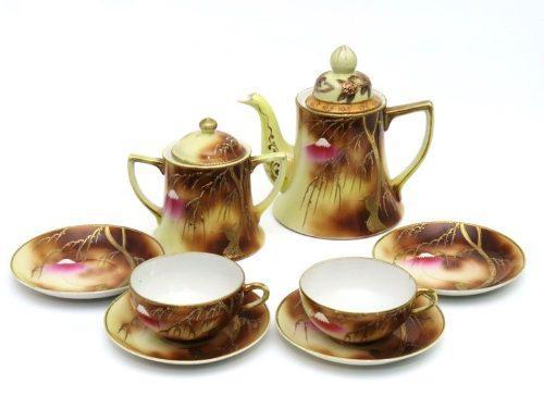 Antiguo Juego De Té Porcelana Japonesa Muy Fina