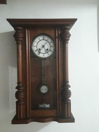 Antiguo Reloj De Pared Estilo Viena Aleman