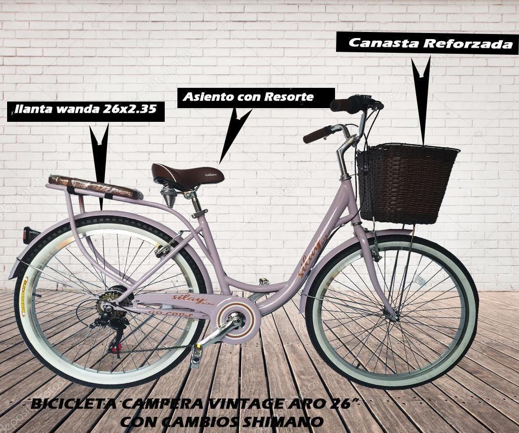 Bicicleta Vintage Aro 26 Nuevo Campera