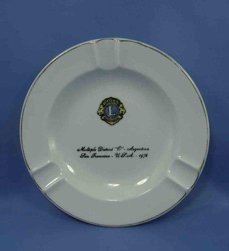 Cenicero Club De Leones 1974 Hartford Porcelana Argentina