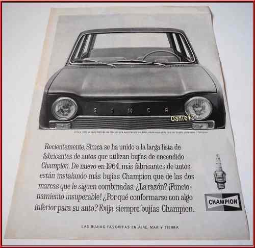 Dante42 Publicidad Antigua Retro Auto Simca 1000 1964