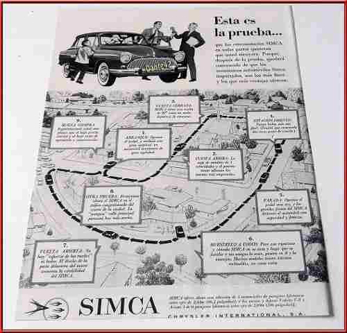 Dante42 Publicidad Antigua Retro Auto Simca 1959
