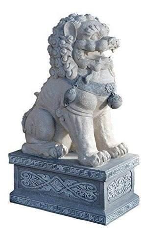 Diseño Toscano Giant Foo Perro De La Escultura De La Ciudad