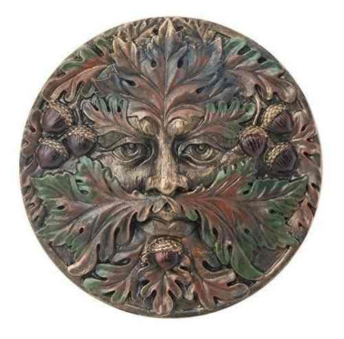 Greenman Plaquefall Figura Coleccionable Estatua Escultura