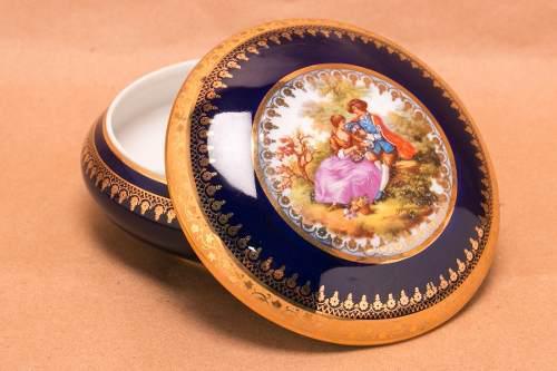 Limoges Clásico Porcelana Francesa Bombonera Gout De Villes