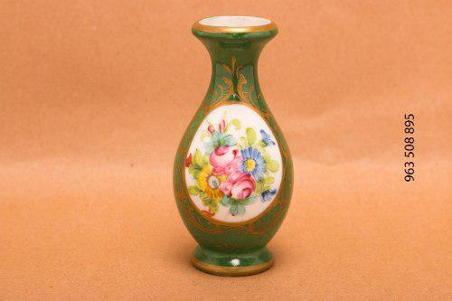 Limoges Porcelana Francesa Miniatura Floreros Gout De Ville