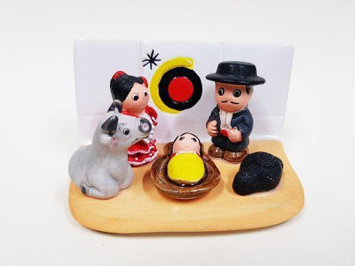 Nacimiento Joan Miró - Hecho A Mano En Cerámica - 1 Bloque