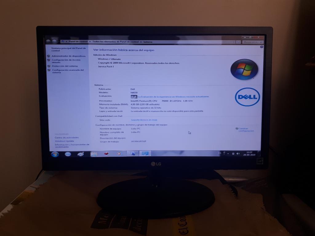 Monitor Led Lg 19 Pulgadas