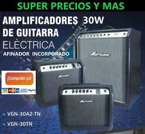 Amplificador De Guitarra 30w Con Afinador Vorson Vgn30a2tn