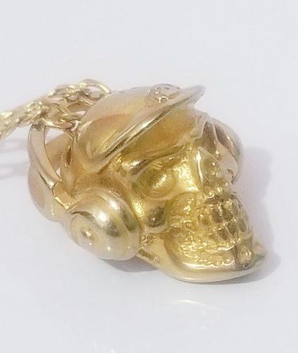 Cadena Y Dije Carabela Enchapado En Oro De 18k