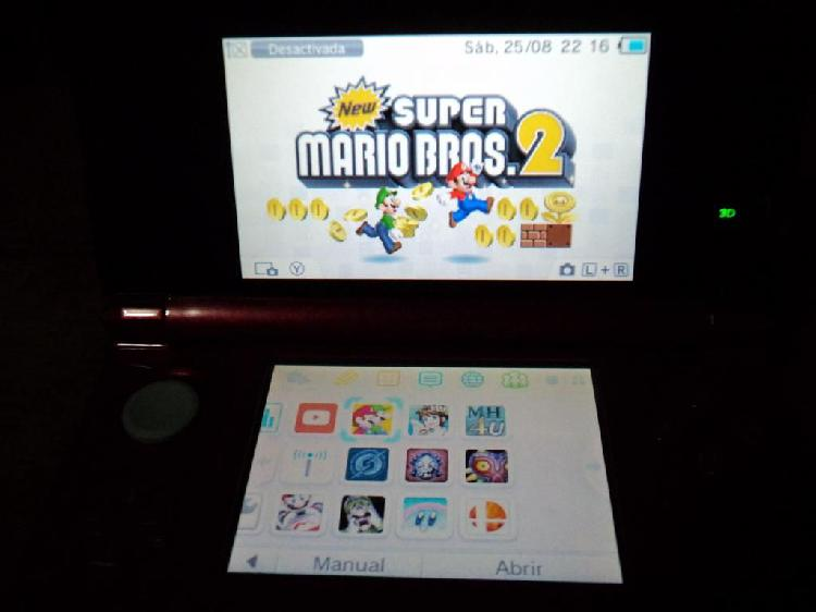 Nintendo 3ds con memoria de 16 gb y 10 juegos