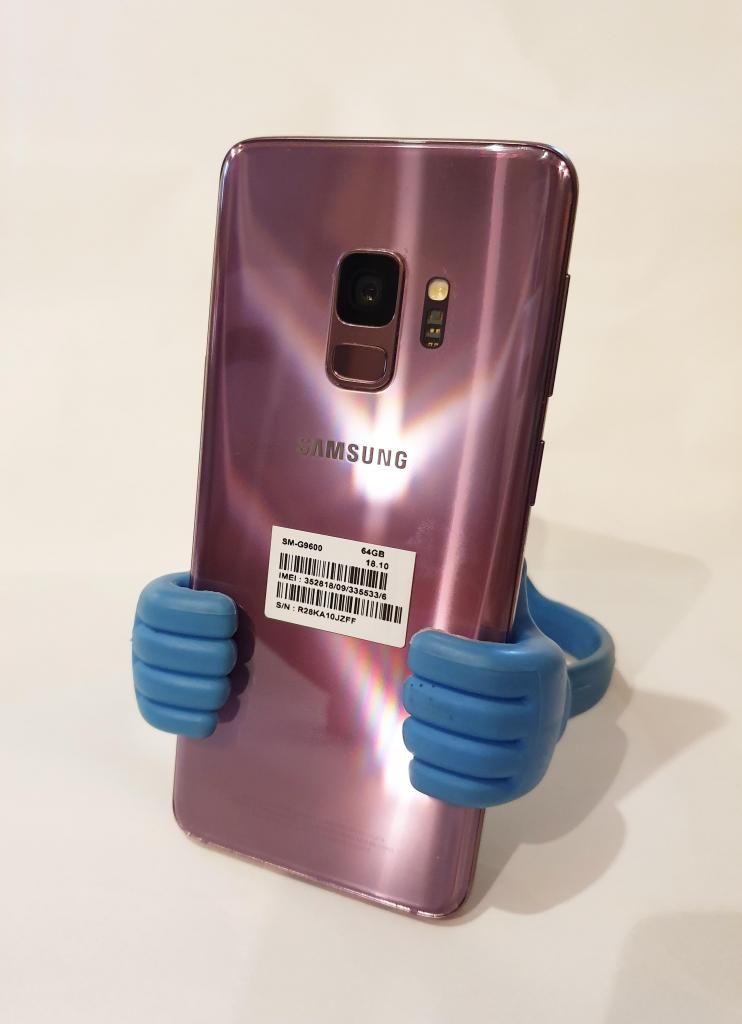 SAMSUNG GALAXY S9, 64GB, LIBRE, IMEI ORIGINAL, LILAC PURPLE,