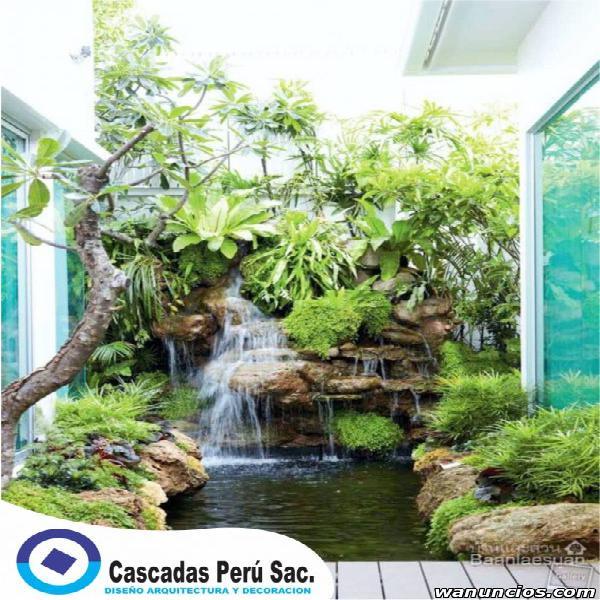 cascada artificial de piedra pomez y piedra cantera