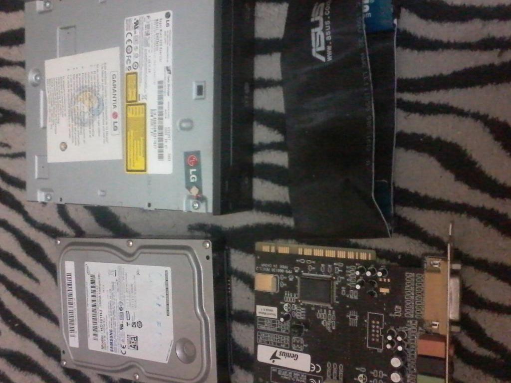 grabador sata lg-disco duro 160gb sata-tarjeta de sonido 5.1
