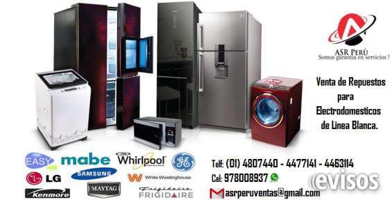 Venta de repuestos para electrodomésticos de linea blanca