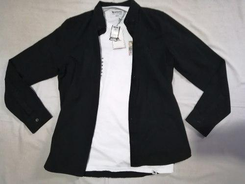 Camisa Huntington Y Regalo Polo Gotcha Talla M Remate