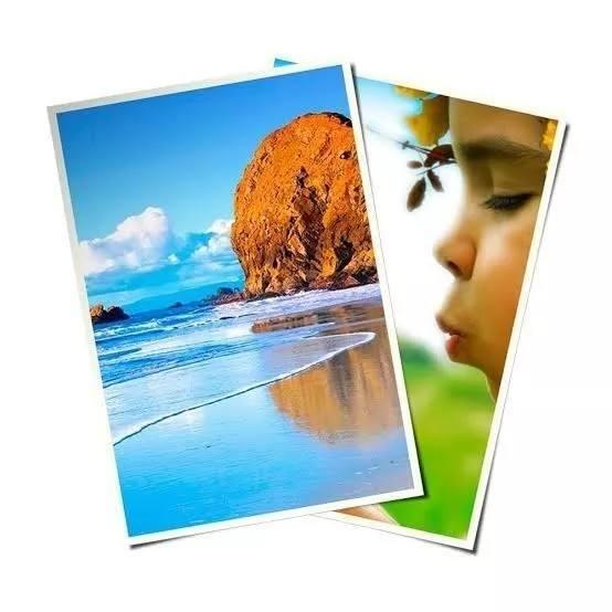 Papel Adhesivo Blanco Brillante(fotográfico) Agr