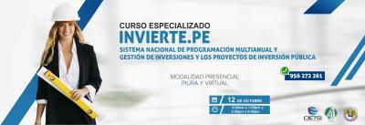 CURSO ESPECIALIZADO SISTEMA NACIONAL DE PROGRAMACIÓN