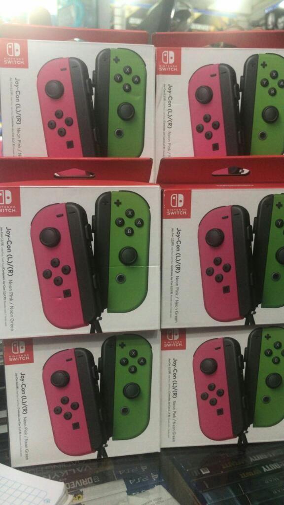 Joy con Neon Pink / neon Green Nintendo Switch Nuevo Sellado