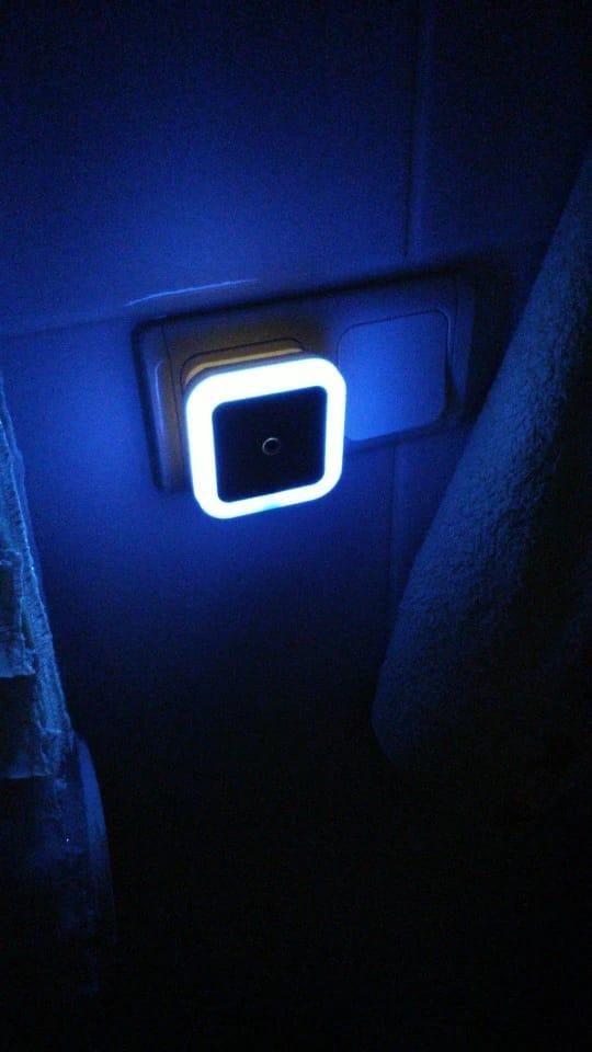 Luz de noche LED Mini Sensor de luz