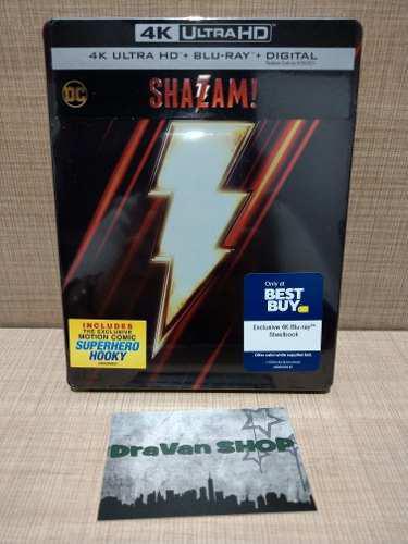 Shazam Steelbook 4k Blu Ray Película Dc Nuevo Original