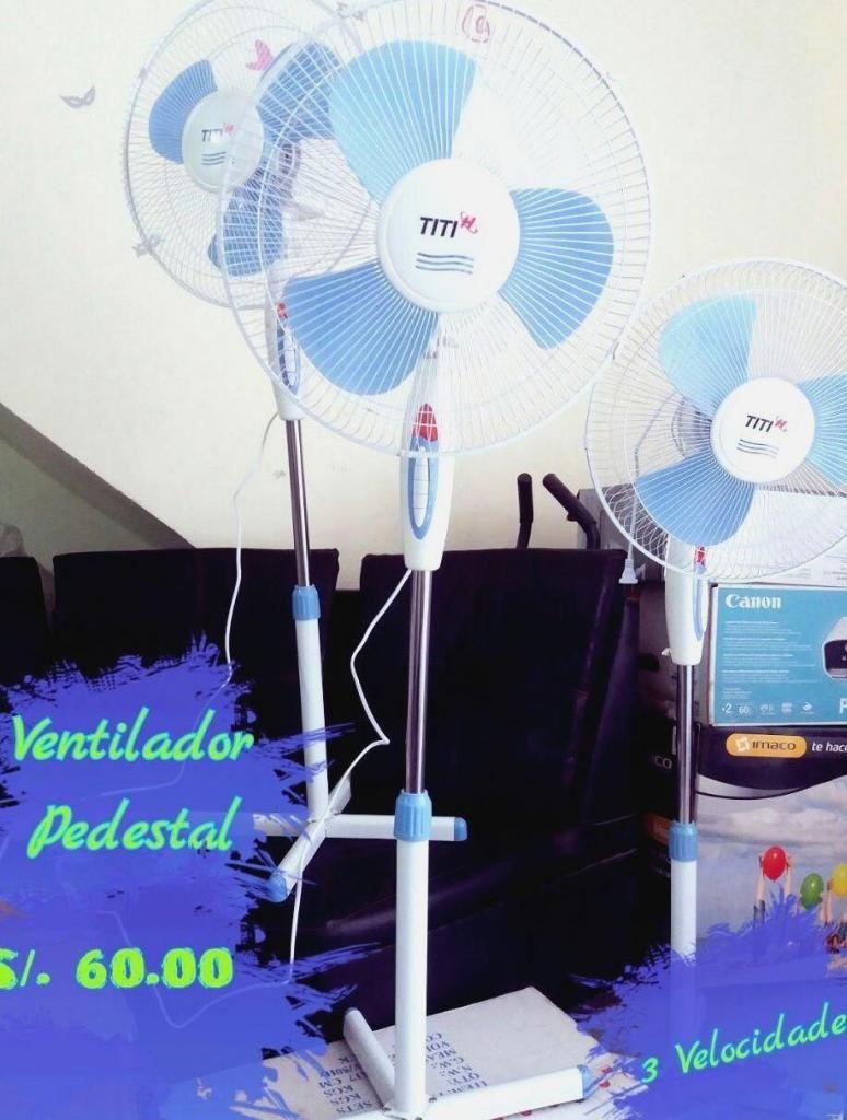 Ventilador Pedestal 3 velocidades, giratorio