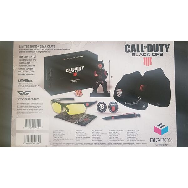 CALL OF DUTY COD BLACK OPS 4 IIII LIMITED EDITION GEAR CRATE