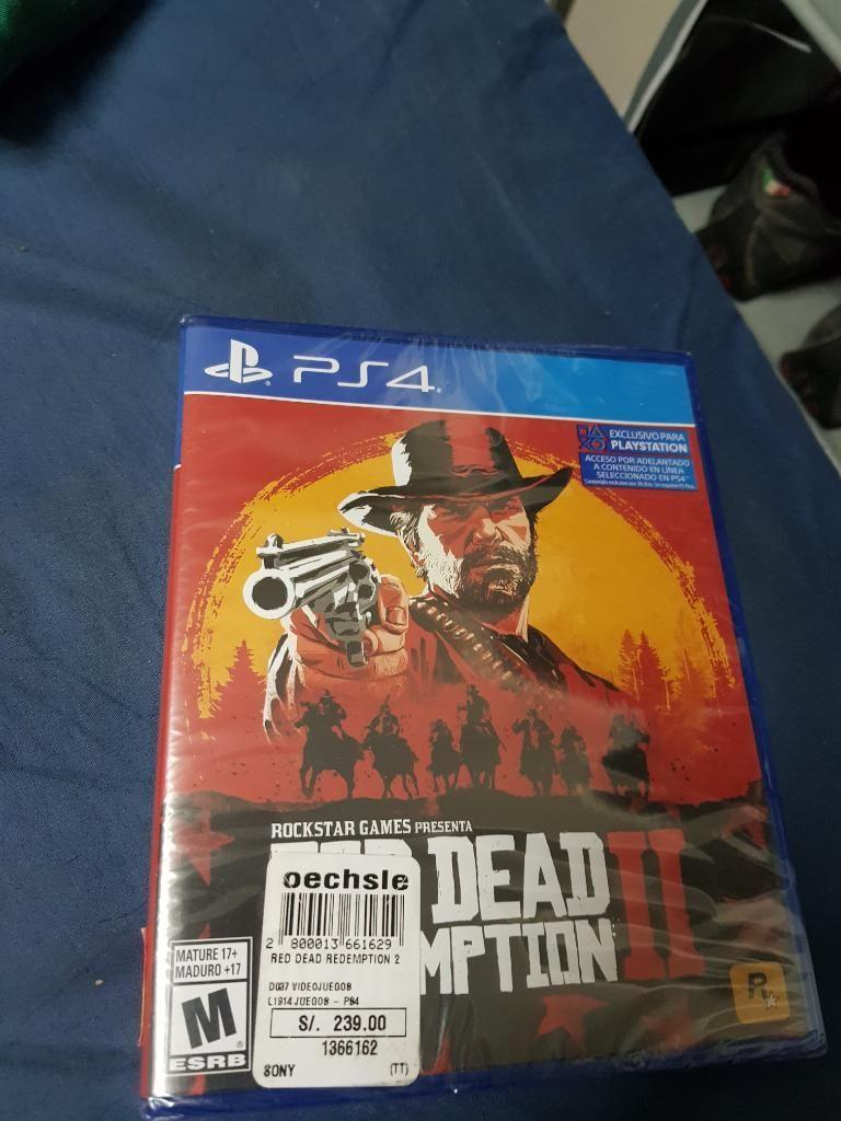 Vendo O Cambio Red Dead Redemption Ps4